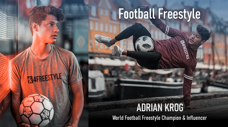 Freestyle Football med Adrian Krog